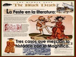 ppt. La peste en la literatura. - El blog de Historia de mister Cristhian