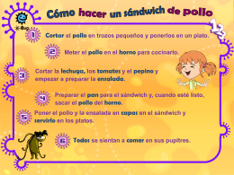Receta del sándwich de pollo: FA 2 (MS PowerPoint) - e-Bug
