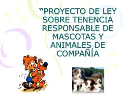 proyecto de ley sobre tenencia responsable de mascotas y