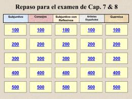 Repaso para el examen 1.3