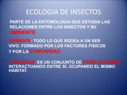 Ecologia de Insectos I