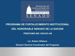 Gestión Parlamentaria - Honorable Senado de la Nación