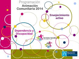 presentacion envejecimiento y discapacidad 2014