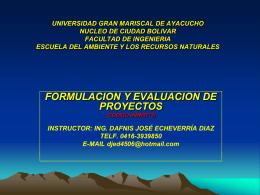 UNIVERSIDAD GRAN MARISCAL DE