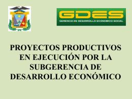 Proyectos productivos - Municipalidad Provincial de Mariscal Nieto