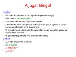 A jugar Bingo!