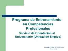 Entrenamiento en Competencias Personales.