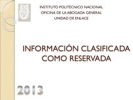 (power point): taller sobre la información clasificada como reservada