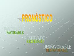 PRONÓSTICO