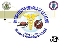 Bachillerato Ciencias de la Salud - Escuela de Profesiones de la