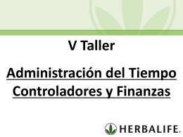Taller V Administracion del Tiempo y Finanzas (MX)
