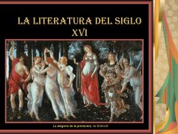 LA LITERATURA DEL SIGLO XVI - Apuntes de Lengua y Literatura