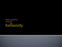 Reflexivity - A network for advanced practice education in the