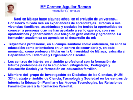 Mª Carmen Aguilar Ramos mcaguilar (a) uma.es