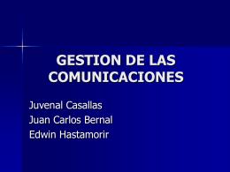 GESTION DE COMUNICACIONES