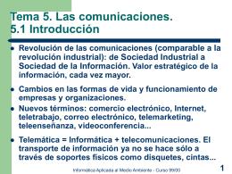 Diapositivas del Tema 5 - Las comunicaciones