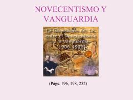 NOVECENTISMO  - lenguayliteraturasoto