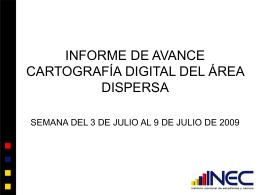 INFORME DE AVANCE CARTOGRAFÍA DIGITAL DEL ÁREA
