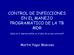 CONTROL DE INFECCIONES EN EL MANEJO PROGRAMÁTICO