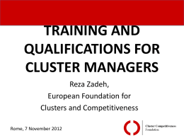 CLUSTER ORGANIZATION MANAGEMENT