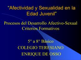 Prepubertad - Colegio Teresiano Enrique de Ossó
