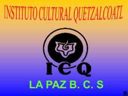 La Gioconda.  - Instituto Cultural Quetzalcoatl