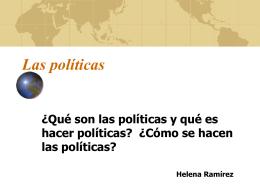 """Presentación """"Las políticas"""""""