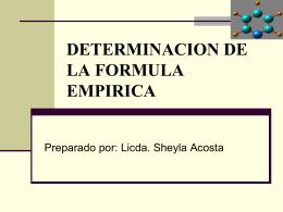 DETERMINACION DE LA FORMULA EMPIRICA