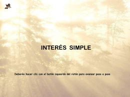 Interés simple - IES Pablo Serrano
