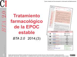 Tratamiento farmacológico de la EPOC estable