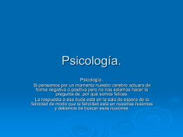 Psicología. - WordPress.com