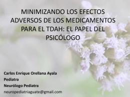 MINIMIZANDO LOS EFECTOS ADVERSOS DE