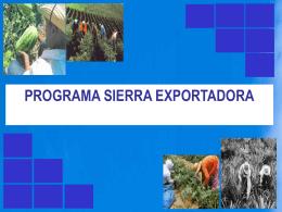 PPT Sierra Exportadora MO-05-09-061