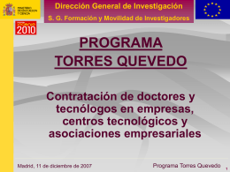 Presentación del Programa Torres Quevedo
