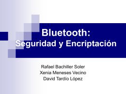 Bluetooth: Seguridad y Encriptación