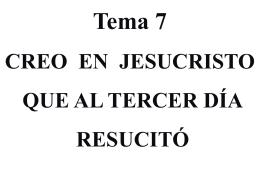Creo en Jesucristo que resucitó