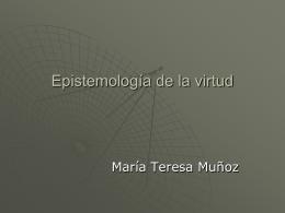 Epistemología de la virtud