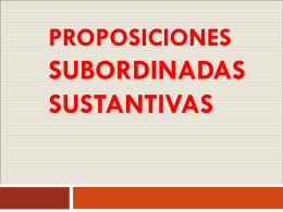 03-PROPOSICONES SUBORDINADAS - Cancion