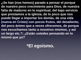 Egoísmo - Buscad Y Hallareis