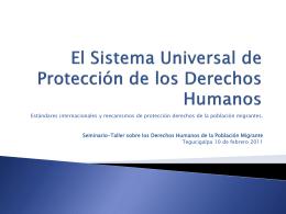 Estándares internacionales en materia de Derechos Humanos