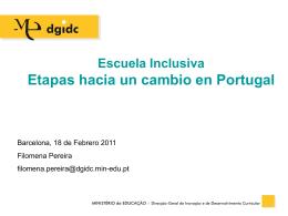 Escuela Inclusiva Etapas hacia un cambio en Portugal