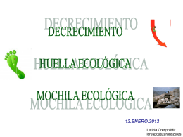 Huella ecológica y mochila ecológica