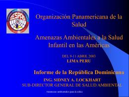 (INFORME REPÚBLICA DOMINICANA).