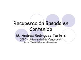 Bases de Espaciales Andrea Rodríguez Tastets Universidad de