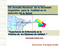 INTEGRACIÓN VERTICAL - Sociedad Argentina para la Calidad en