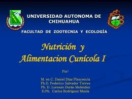 nutrición y alimentación cunícola i