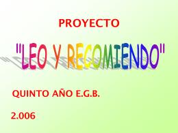 Lectura 2006 - Colegio Sagrado Corazón