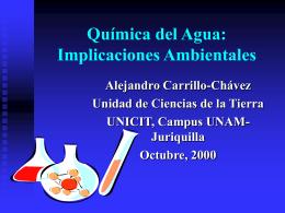 Química del agua - Centro de Geociencias ::.. UNAM