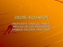 Ponencia de la CEOSL