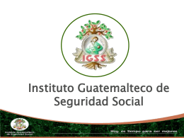 Historia de la Seguridad Social en Guatemala